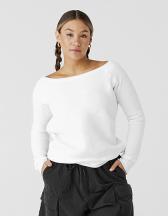 Women`s Sponge Fleece Wide Neck Sweatshirt