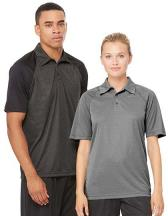 Unisex Performance 3-Button Raglan Polo